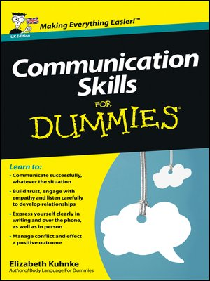 cover image of Communication Skills For Dummies, UK Edition