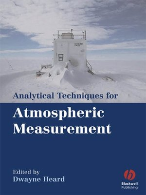 cover image of Analytical Techniques for Atmospheric Measurement