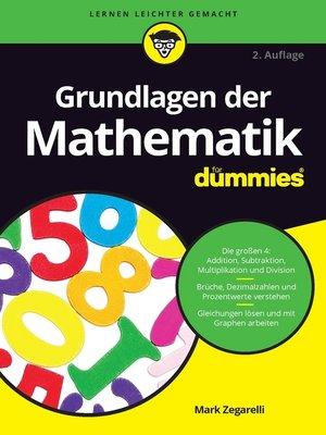 cover image of Grundlagen der Mathematik für Dummies