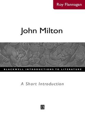 cover image of John Milton