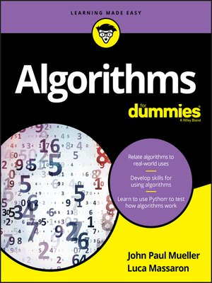 cover image of Algorithms For Dummies