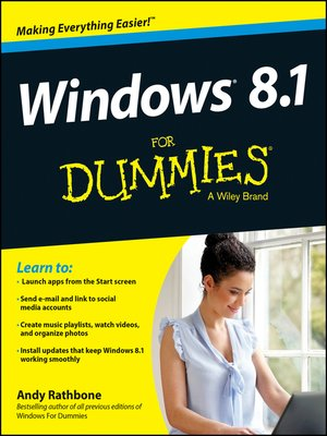 cover image of Windows 8.1 For Dummies