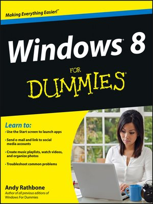 cover image of Windows 8 For Dummies