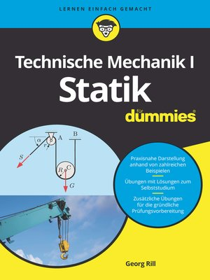 cover image of Technische Mechanik I Statik für Dummies