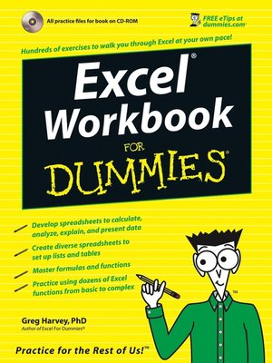 cover image of Excel Workbook For Dummies