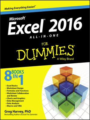 cover image of Excel 2016 All-in-One For Dummies