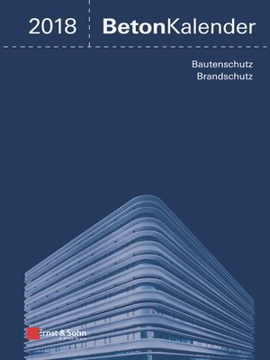 cover image of Beton-Kalender 2018
