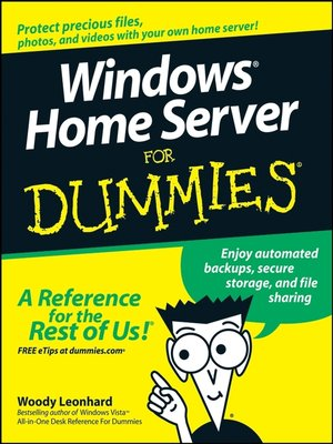cover image of Windows Home Server For Dummies