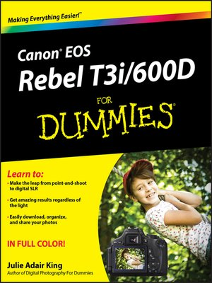 cover image of Canon EOS Rebel T3i / 600D For Dummies