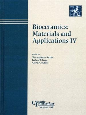 cover image of Bioceramics