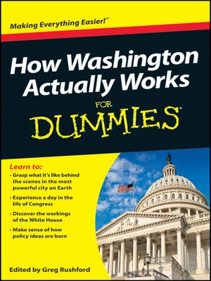 cover image of How Washington Actually Works For Dummies