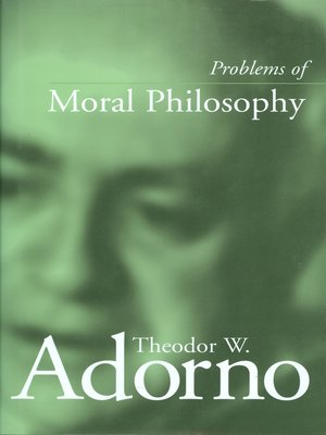 cover image of Problems of Moral Philosophy