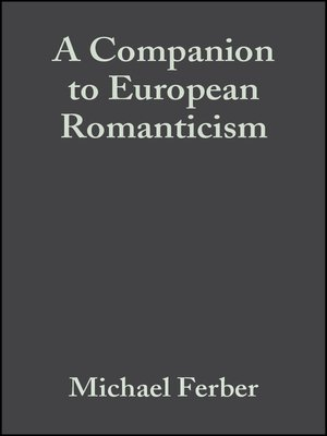 cover image of A Companion to European Romanticism