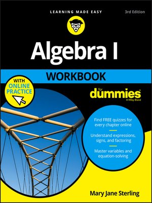 cover image of Algebra I Workbook For Dummies