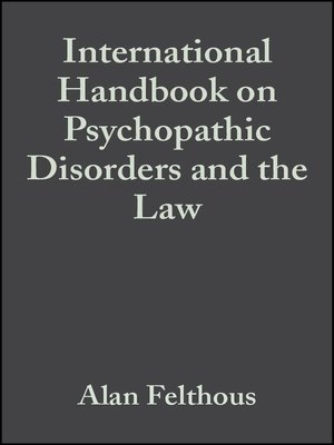 cover image of International Handbook on Psychopathic Disorders and the Law