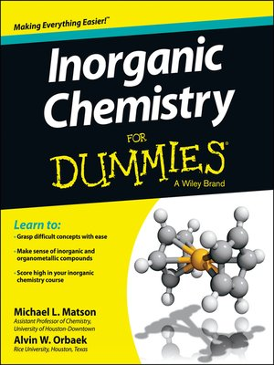 cover image of Inorganic Chemistry For Dummies
