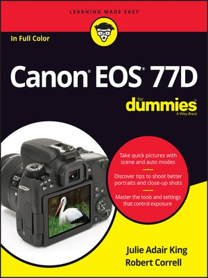 cover image of Canon EOS 77D For Dummies