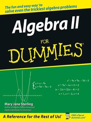 cover image of Algebra II For Dummies