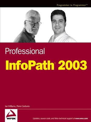cover image of Professional InfoPath 2003