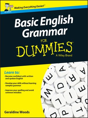 cover image of Basic English Grammar For Dummies, UK Edition