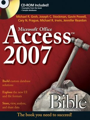 cover image of Access 2007 Bible