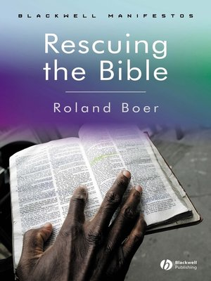 cover image of Rescuing the Bible