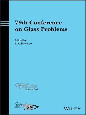 cover image of 79th Conference on Glass Problems, Ceramic Transactions