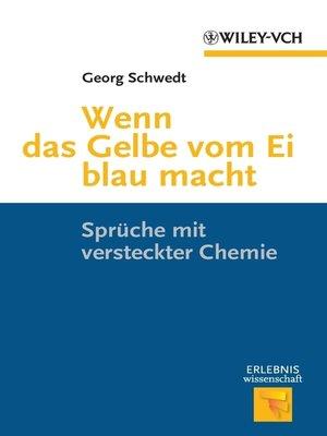 cover image of Wenn das Gelbe vom Ei blau macht