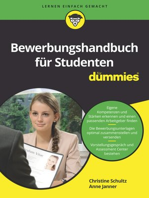 cover image of Bewerbungshandbuch für Studenten für Dummies