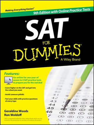 cover image of SAT For Dummies, with Online Practice
