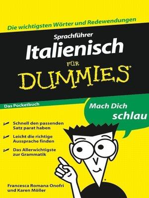 cover image of Sprachführer Italienisch für Dummies Das Pocketbuch