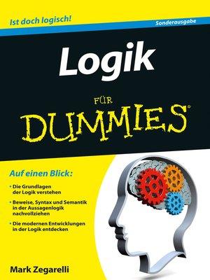 cover image of Logik für Dummies
