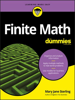 cover image of Finite Math For Dummies