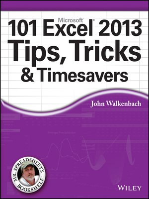 cover image of 101 Excel 2013 Tips, Tricks and Timesavers