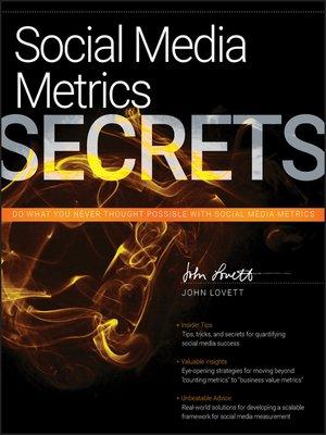 cover image of Social Media Metrics Secrets
