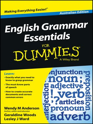 cover image of English Grammar Essentials For Dummies