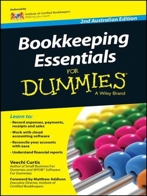 cover image of Bookkeeping Essentials For Dummies