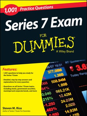 cover image of 1,001 Series 7 Exam Practice Questions For Dummies