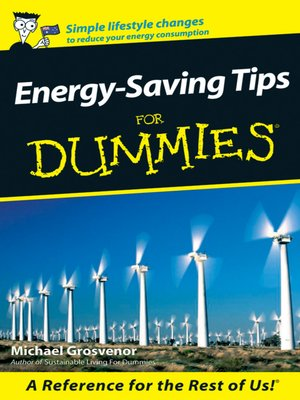 cover image of Energy-Saving Tips For Dummies