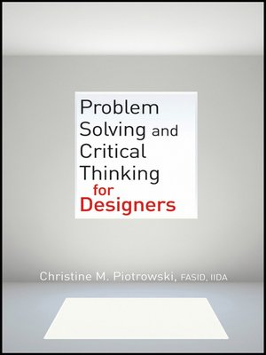 cover image of Problem Solving and Critical Thinking for Designers