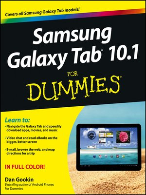 cover image of Samsung Galaxy Tab 10.1 For Dummies
