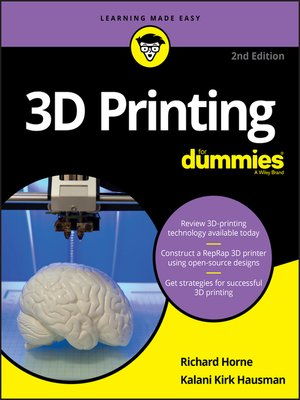 cover image of 3D Printing For Dummies