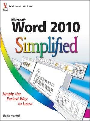 cover image of Word 2010 Simplified