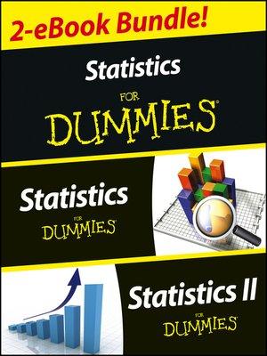 cover image of Statistics I & II For Dummies 2 eBook Bundle