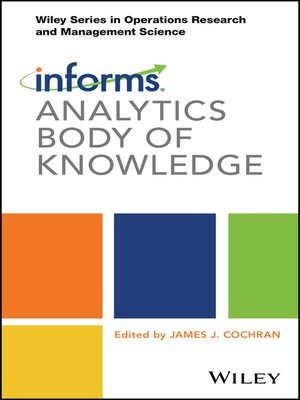 cover image of INFORMS Analytics Body of Knowledge