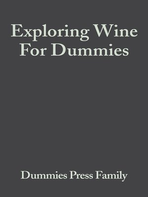 cover image of Exploring Wine For Dummies