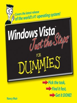 cover image of Windows Vista Just the Steps For Dummies