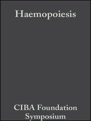 cover image of Haemopoiesis