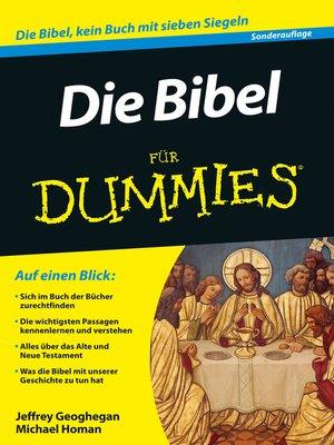 cover image of Die Bibel für Dummies