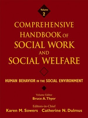 cover image of Comprehensive Handbook of Social Work and Social Welfare, Human Behavior in the Social Environment